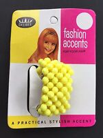 Vintage Hair Accessories - Yellow Beaded Ponytail Holder