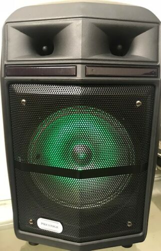 Wireless Rechargeable 8 Inch 2-Way Portable Speaker with Wired Mic and LED Light