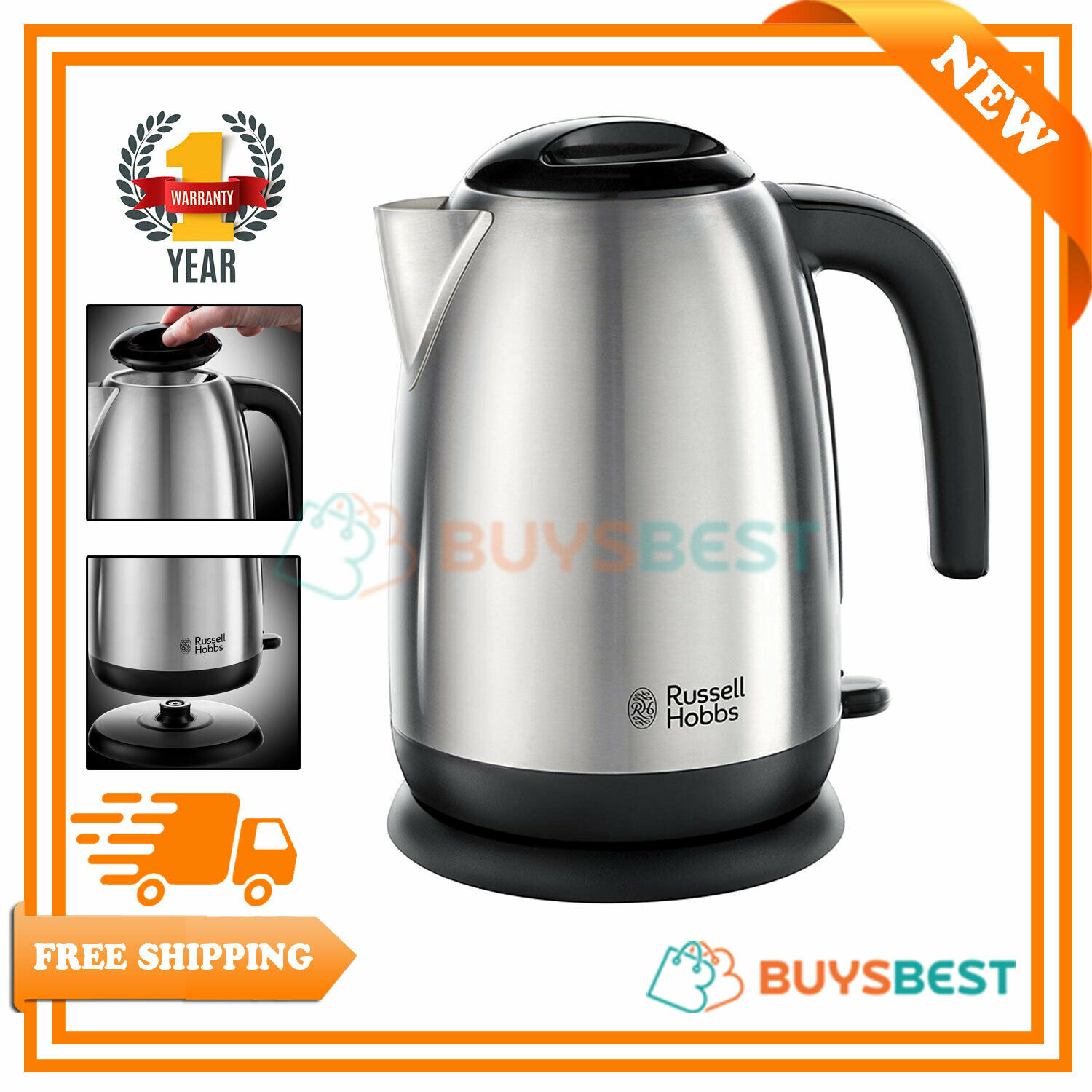 Red Electric Dome Kettle 1.8L Strix