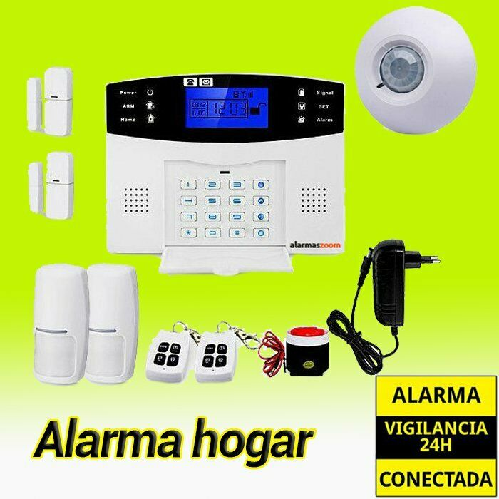 Sistema de alarma para casa con detector PIR techo AZ017 alarmas hogar sin cuota