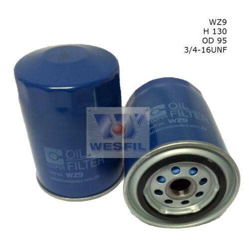 WESFIL OIL FILTER FOR Toyota Hiace  2.4L 1987-1989 WZ9