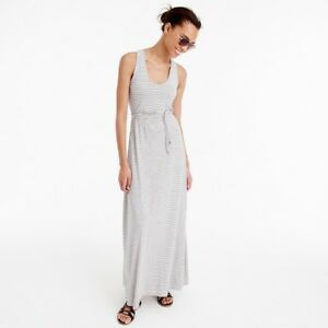 e1db546b806 Image is loading J-crew-striped-maxi-dress-with-tie-small