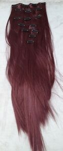cherry-red-7-pcs-set-straight-20-034-long-clip-in-on-hair-extension-heat-resist-new