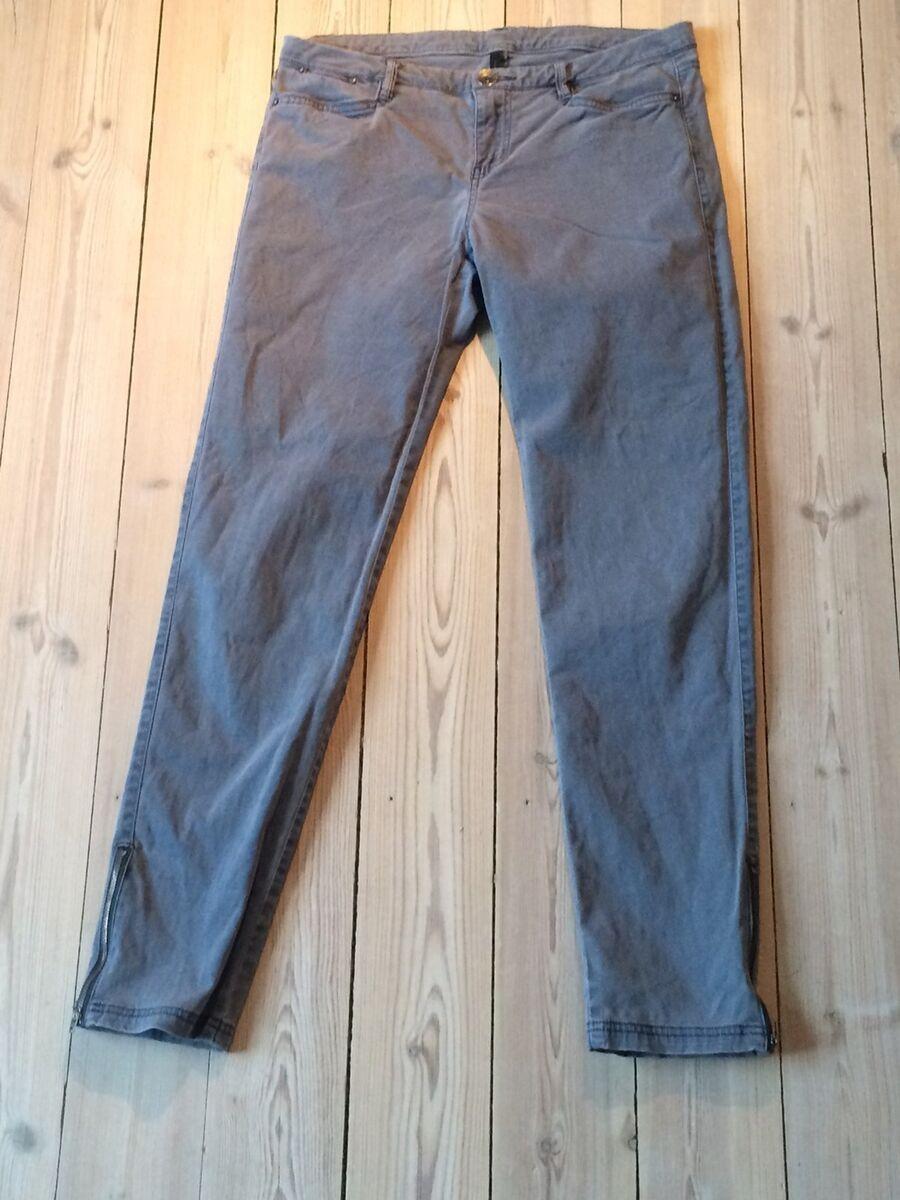 Bukser, Benetton, str. 38, Flotte bukser støvet blå. Børs