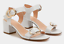 Womens Ladies Mid Block Heel Summer Sandals Gold Buckle Ankle Strap Shoes Size