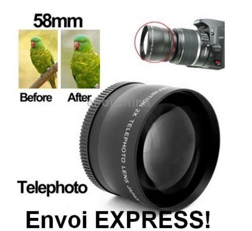 Soporte Objetivo lente teleobjetivo 2 X para enroscar 52mm CANON NIKON PENTAX