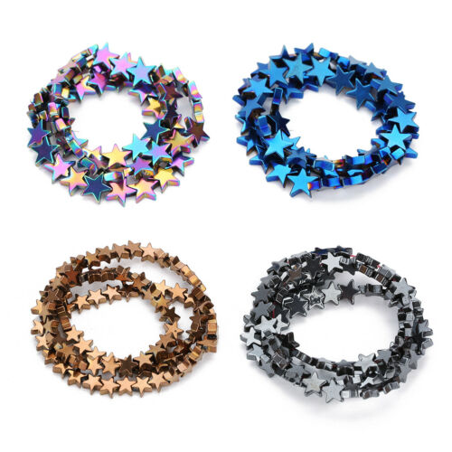 40cm//strand 6//8//10mm Metallizing Hematite Star Spacer Beads Jewelry Diy Findings