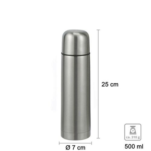 0,35 0,75 1 L Edelstahl Isolierkanne Isoflasche Thermos Flasche Kanne 0,5