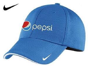 3b0d07c9f51fb Pepsi Nike Golf Dri-FIT Mesh Swoosh Flex Sandwich Cap (Pacific Blue ...