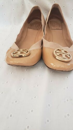 Tory Burch Camel Tan Beige Patent Leather Ballet F