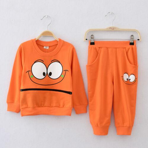 Long Pants Set Kids Casual Clothes Outfits 2PCS Baby Boys Long Sleeve Coat