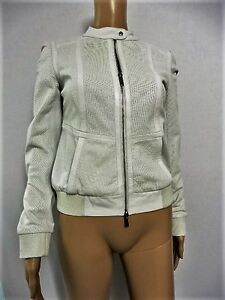 KAREN MILLEN THE ATELIER WINTER WHITE LEATHER JACKET SIZE 8 SEPT05 - <span itemprop='availableAtOrFrom'>ESSEX, United Kingdom</span> - Returns accepted - ESSEX, United Kingdom
