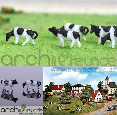 handbemalt 10 x Modell Kühe für Bauernhof Modellbau Modelleisenbahn Spur N