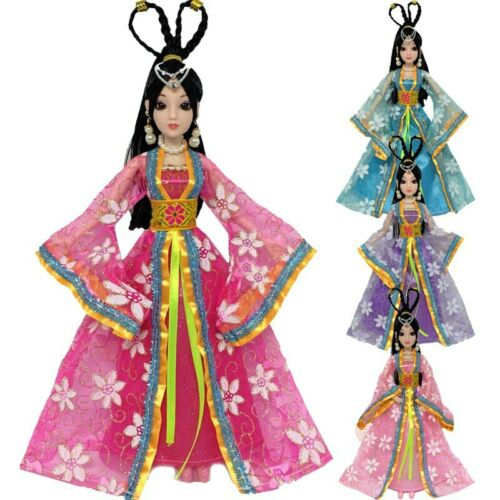 """Ancient Doll Clothes For 11.5/"""" Doll Outfits Floral Dresses 1//6 Toys For Children"""
