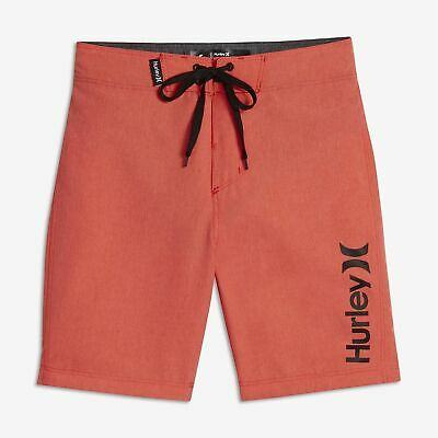 Hurley Boys One and Only Heathered Board Shorts 10//25, Bright Crimson