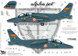 ffsmc productions decals 1 72 alphajet e eto cazaux ebay. Black Bedroom Furniture Sets. Home Design Ideas