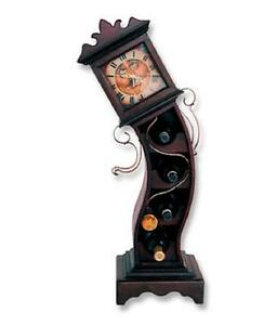 Drunken Grandfather Clock With Wine Rack Gamesroom Bar Home Decor