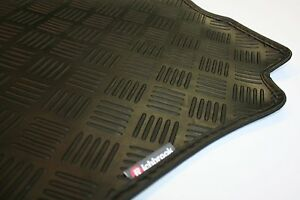 Fiat Uno (83-now) Richbrook Black 3mm Rubber Car Mats - Leather Trim