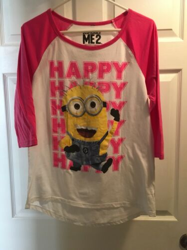 Despicable ME2 Ladies T Shirt size XL HAPPY HAPPY