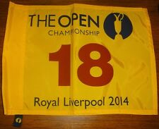 2014 BRITISH OPEN CHAMPIONSHIP ROYAL LIVERPOOL 18 GOLF COURSE FLAG RORY MCILROY