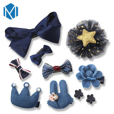10pcs/set Kids Bambina Bow Boutique Clip Capelli Fiore Barrette Pin Gift Box Uk-mostra Il Titolo Originale