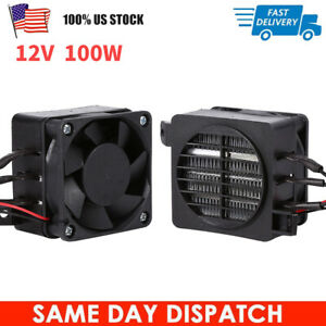 100W 12V PTC Car Fan Air Heater Constant Temperature Heating Element Heaters