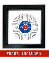 THE JAM THAT'S ENTERTAINMENT vinyl framed print retro vintage Gift PERSONALISED
