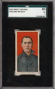 Rare 1909-11 T206 HOF Jake Beckley Sweet Caporal 350 Kansas City SGC 60 / 5 EX