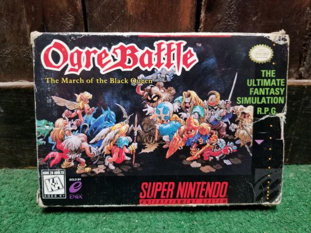 Ogre Battle : The March of the Black Queen Super Nintendo SNES 100% Complete CIB