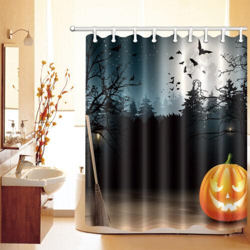 """60//72//79/"""" Halloween Chauve-souris Forest Imperméable Polyester Rideau de Douche /& Crochets 2654"""