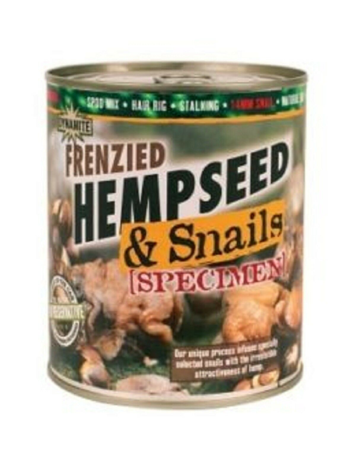 12 x 700g Tins Dynamite Hempseed & Snails 14mm Specimen