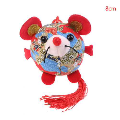 2020 Year Of The Fat Rat Mascot Plush Toy Red Chinese Knot Mouse Pendant Gift MO