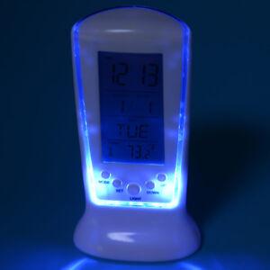 Digital LED Display Backlight despertador Table Alarm Clock Thermometer Calendar