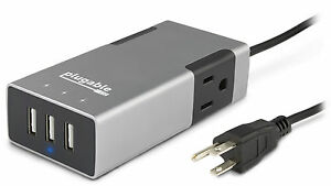 Plugable-Travel-Charging-Station-2-Outlet-3-Port-USB-3ft-1m