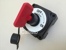 Battery Isolator Switch & Waterproof Cover 250A 12V Cut off Power Kill Switch