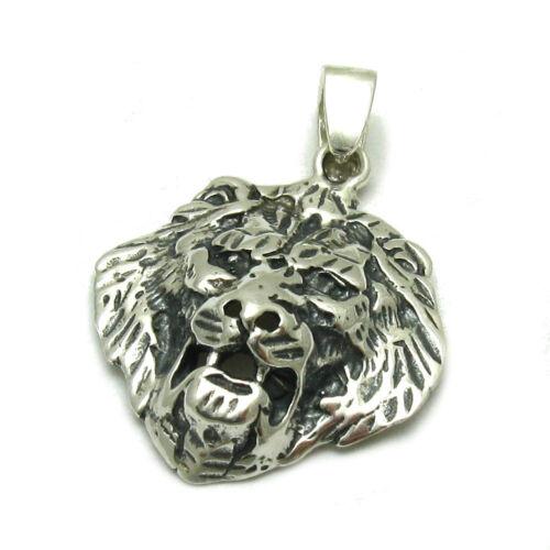 Echte Sterling Silber Anhänger Löwe solide punziert 925 handgefertigt