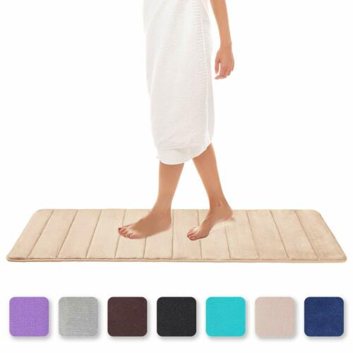 Colorxy Memory Foam Bath Mat Soft  Absorbent Bathroom Rugs Non Slip Large Bat