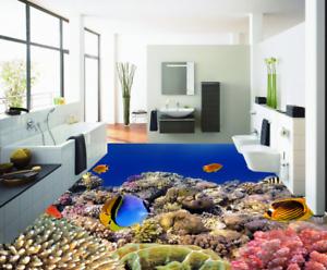 3D Sun Corals Fishes 455 Floor WallPaper Murals Wall Print Decal AJ WALLPAPER