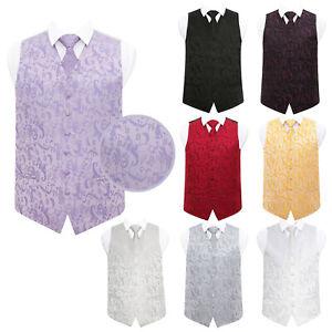DQT-Premium-Woven-Floral-Formal-Casual-Tuxedo-Mens-Wedding-Waistcoat-Tie-Set