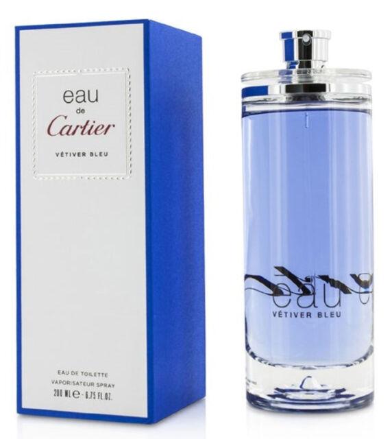 30d5c283743 Vetiver Bleu for Men by Cartier Eau De Toilette Spray (unisex) 6.7 ...