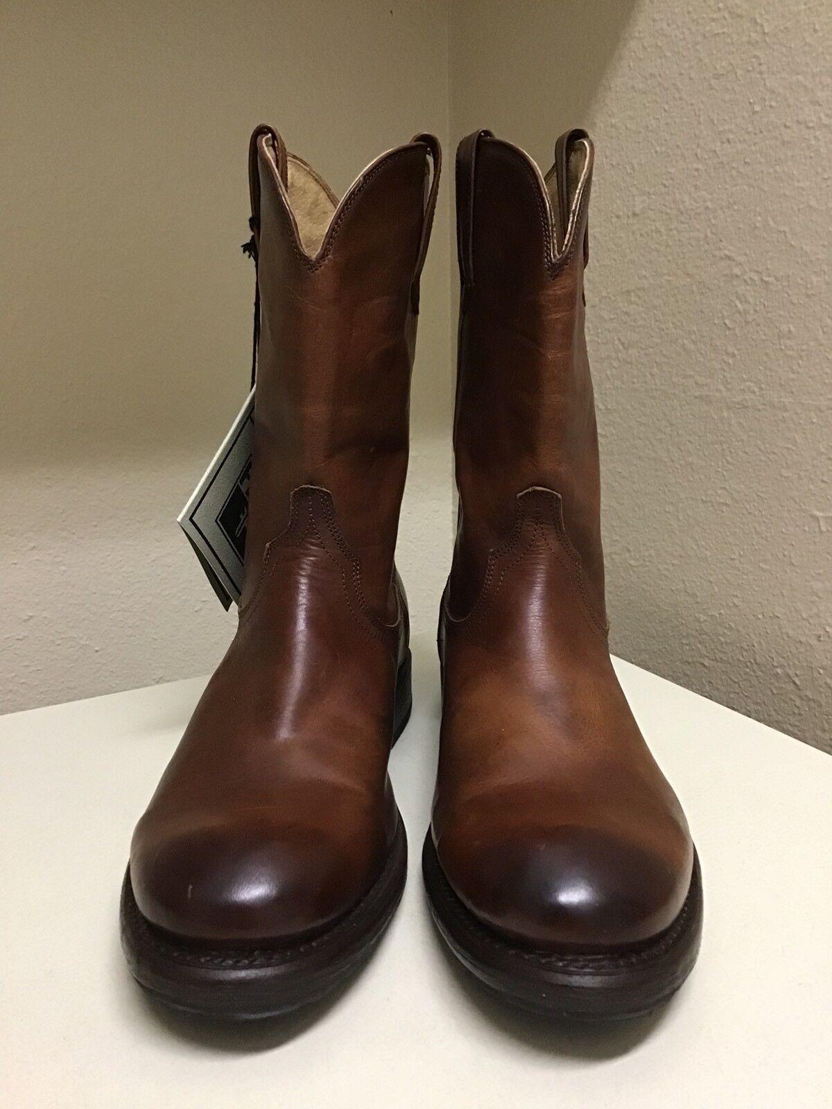 FRYE Duke Roper Mens Western Boot- 87297 Redwood Size  9 M