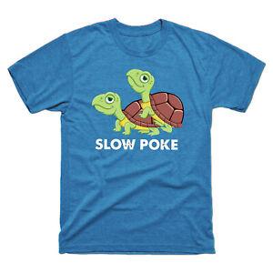Turtle-Slow-Poke-Funny-Vintage-Men-039-s-Short-Sleeve-Tee-Retro-Cotton-T-shirt