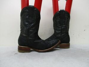 2d8affc5e91 Details about Black Leather Stingray Embossed Toddler Cowboy Boots Size 17  Mexico