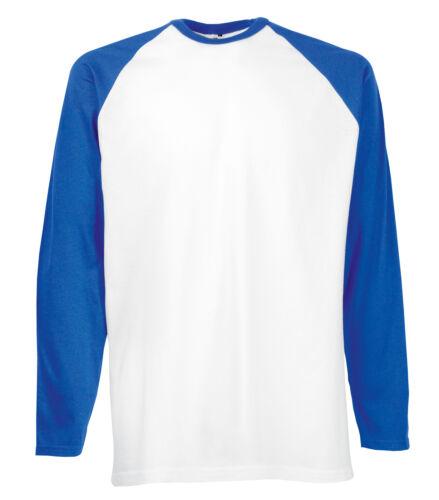 6 couleurs rapide POST 2 fruit of the loom à manches longues Baseball T Shirt S-XXL