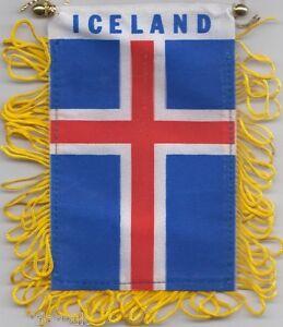 Island Isländische Flagge Aufhängen Auto Wimpel für Fenster oder ...