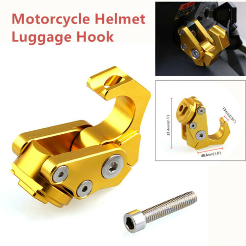 Motorcycle Modification Parts CNC Thick Foldable Hook Helmet Luggage Hook E-bike