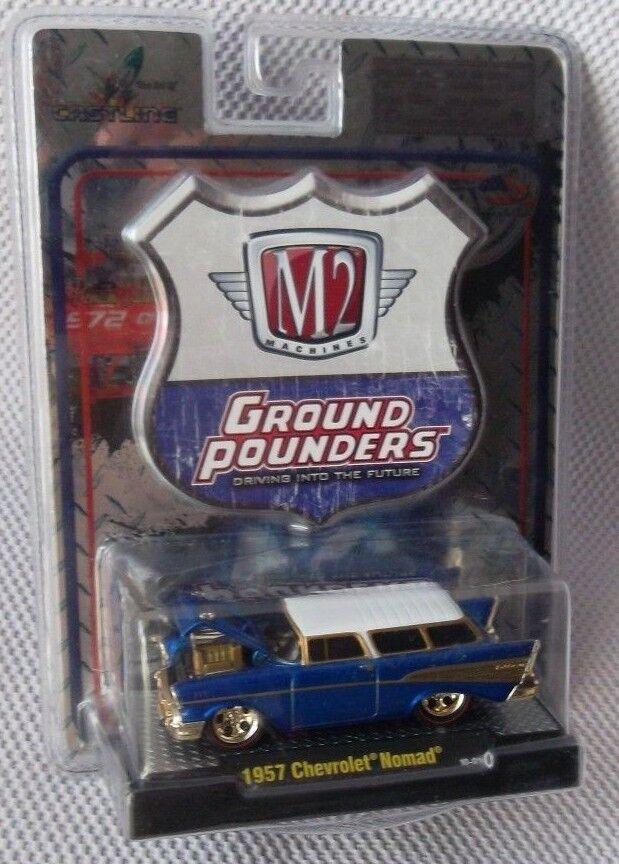 1957 Chevrolet Nomad M2 máquinas Super Chase (Azul) tierra fraguado versión 2