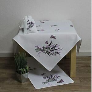 Hossner-Tischdecke-Tischlaeufer-Decke-Laeufer-Tischdeko-Stickerei-Lavendel-50x150