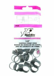 SharkBite-1-2-034-Pex-Barb-Fitting-Copper-Crimp-Ring-25-Count-23102CP25