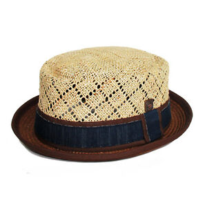 4078576edd3 Jake Brown Brim Seagrass Straw Men s Women s Summer Retro Porkpie ...